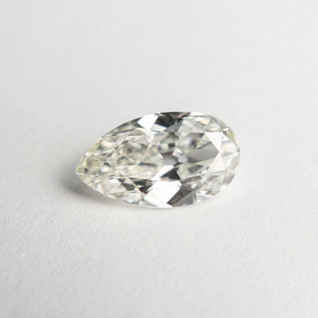 1.08ct 9.41x5.45x3.03mm VS1 J Modern Antique Pear Old Mine Cut 18679-01