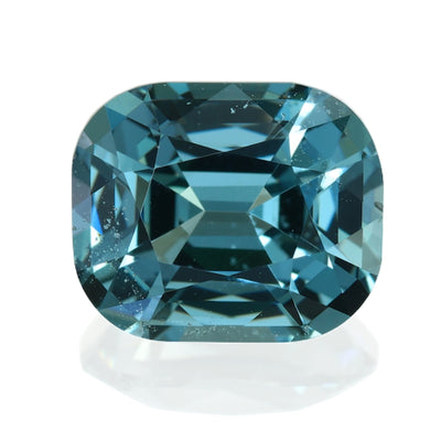 2.77CT CUSHION BURMESE SPINEL, TEAL BLUE GREEN, 8.9X7.4MM