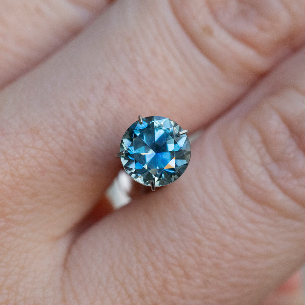 2.03CT ROUND MONTANA SAPPHIRE, MEDIUM BLUE, 7.32MM