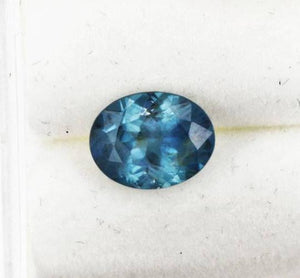 2.06CT OVAL MONTANA SAPPHIRE, MEDIUM TEAL OCEAN BLUE, 9X7MM