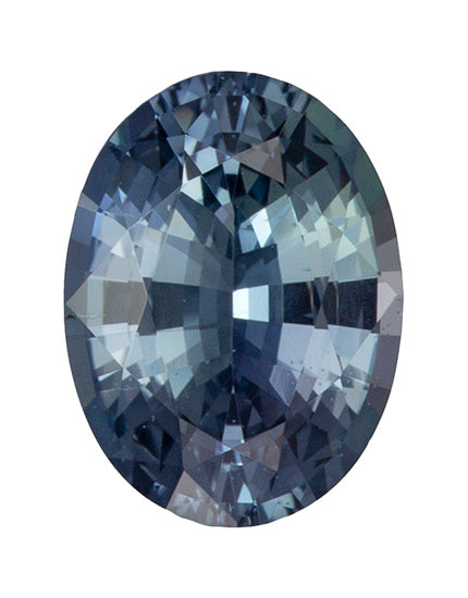 2.08CT OVAL MONTANA SAPPHIRE, SILVERY TEAL BLUE, 9X6.7MM
