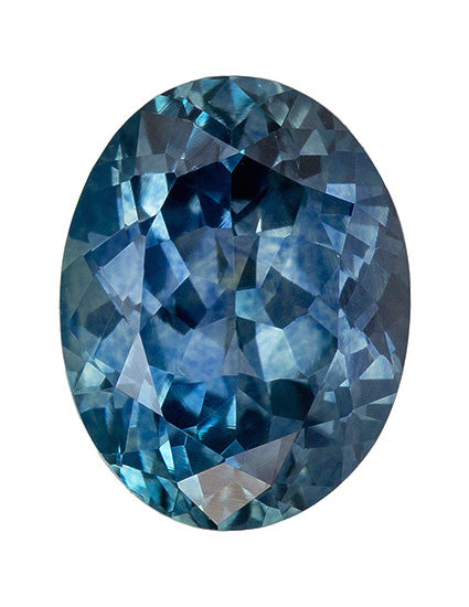 2.09CT OVAL MONTANA SAPPHIRE, STEELY TEAL BLUE, 8.6X6.6MM