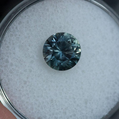 2.10CT ROUND MONTANA SAPPHIRE, COLOR SHIFTING TEAL, BLUE, PURPLE, GREY, 7.81MM