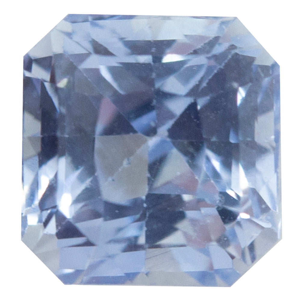 2.12CT SQUARE RADIANT CEYLON SAPPHIRE, LIGHT PERIWINKLE PURPLE, 6.12X6.39MM