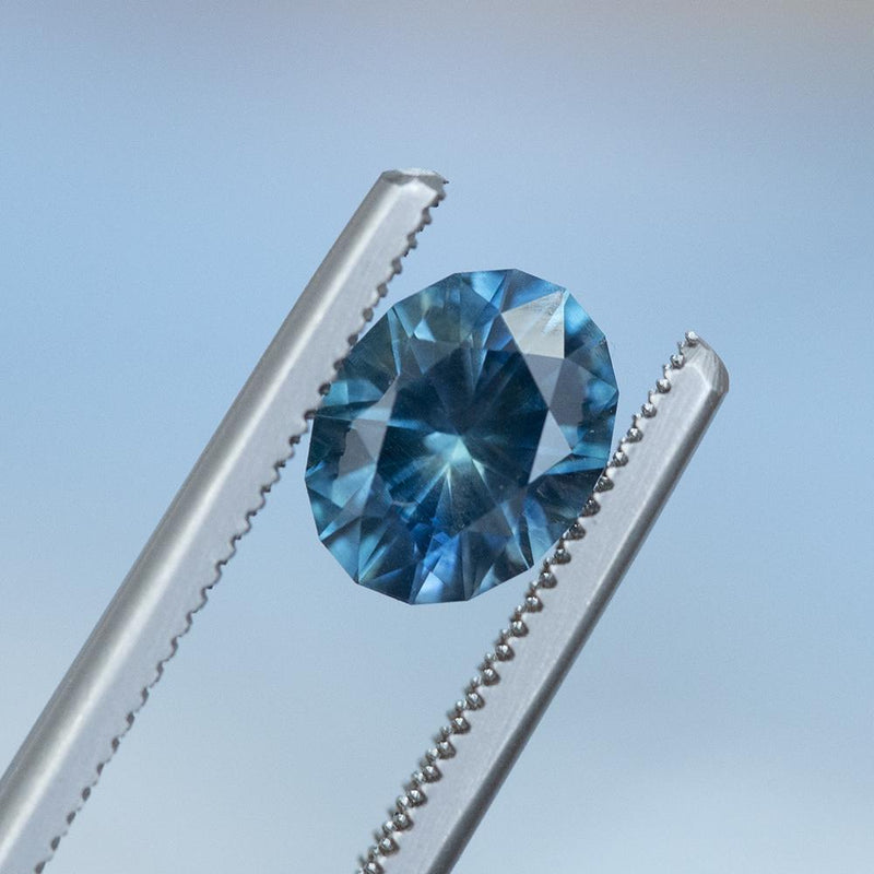 2.14CT OVAL MONTANA SAPPHIRE, PRECISION CUT, VIBRANT BLUE, 8.3X6.5MM