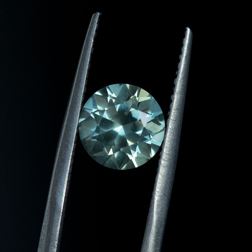 2.16CT ROUND MONTANA SAPPHIRE, MINT GREEN, 7.6X5.1MM, UNTREATED