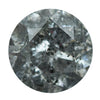 2.20CT ROUND SMOKEY GREY SALT AND PEPPER DIAMOND 8.08X5.30MM
