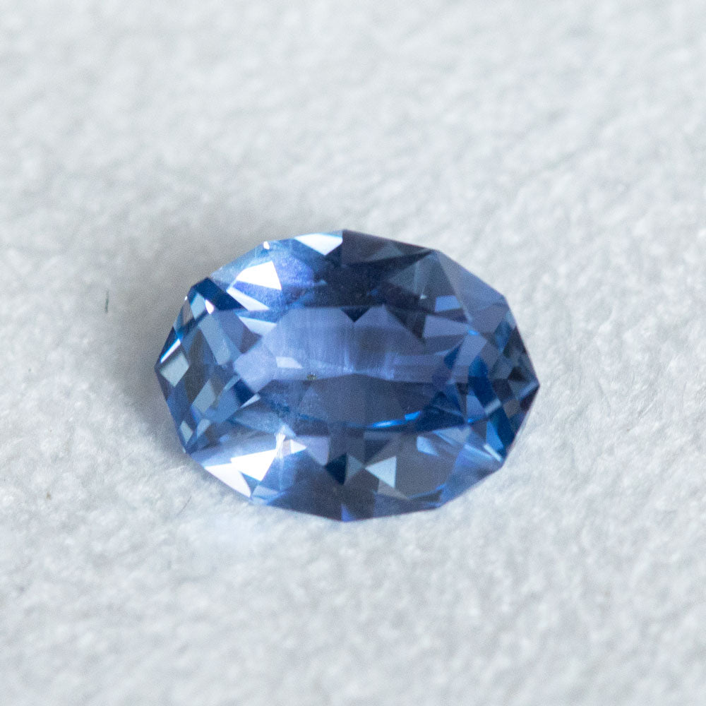 2.22CT OVAL CEYLON SAPPHIRE, PERIWINKLE PURPLE BLUE, UNHEATED, 9.67X7.33X3.92MM