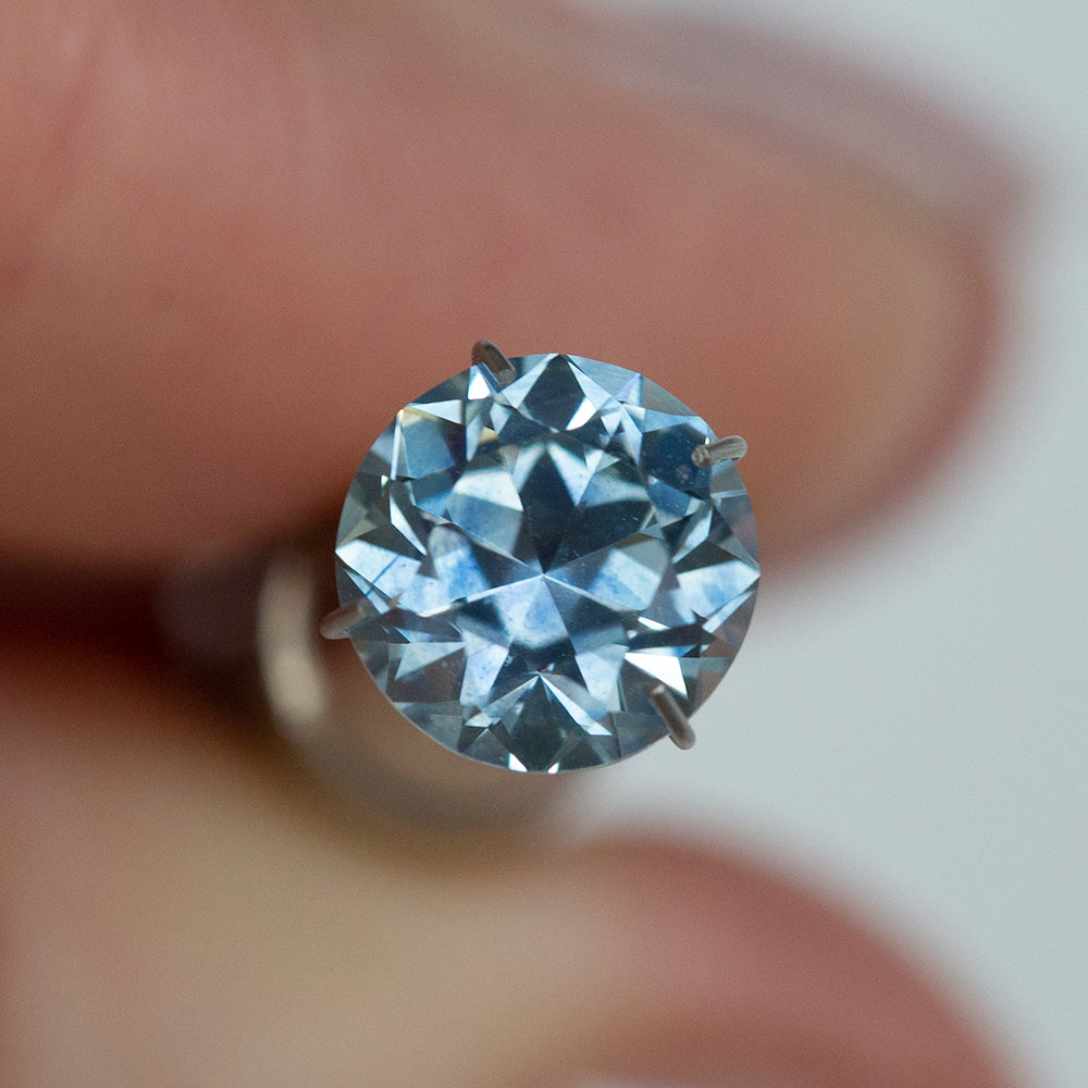 2.25CT ROUND MONTANA SAPPHIRE, GIA, MEDIUM BLUE OLD EUROPEAN CUT, 7.65MM