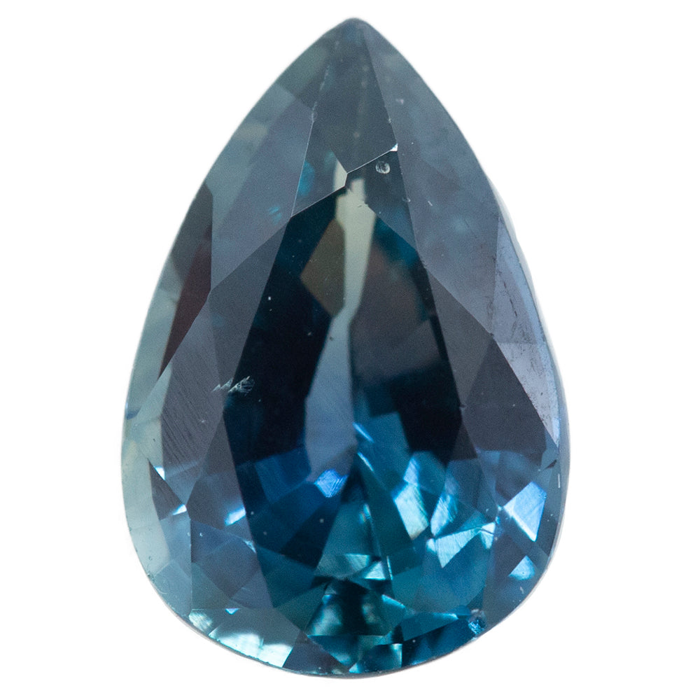 2.36CT PEAR SAPPHIRE, ROYAL BLUE TEAL, UNHEATED, 10.38X7MM
