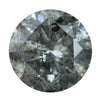2.39CT ROUND DARK SALT AND PEPPER DIAMOND 8.5X5.28MM