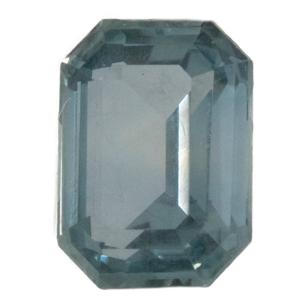2.40CT EMERALD CUT MONTANA SAPPHIRE, COLOR CHANGE BLUE GRAY, UNHEATED, 8.49X6.27MM