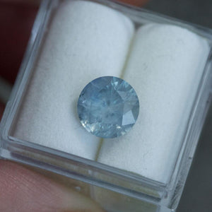 Temporary Hold- 2.45CT ROUND MONTANA SAPPHIRE, PASTEL SILVERY BLUE, 8MM