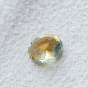 2.45CT OVAL MONTANA SAPPHIRE, PARTI YELLOW MINT ORANGE, UNTREATED, 9.10X7.08X4.82