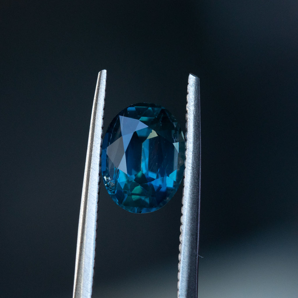 Temporary Hold: 2.48CT OVAL MADAGASCAR SAPPHIRE, DEEP ROYAL BLUE, 8.89X6.74MM