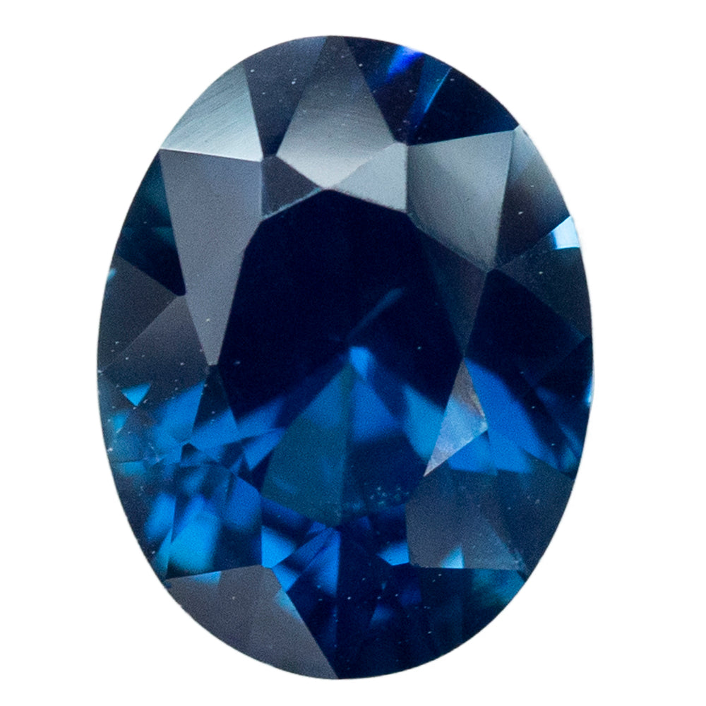 2.49CT OVAL NIGERIAN BLUE SAPPHIRE, UNHEATED, 9.1X7MM