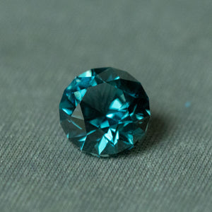 2.56CT ROUND MONTANA SAPPHIRE, TEAL BLUE, 7.75X5.28MM, UNHEATED