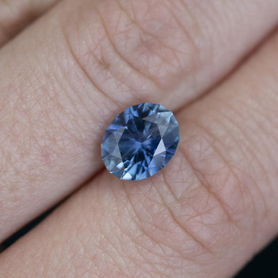 2.60CT OVAL MONTANA SAPPHIRE, PRECISION CUT, VIBRANT BLUE WITH PERIWINKLE, 8.9X7.2MM