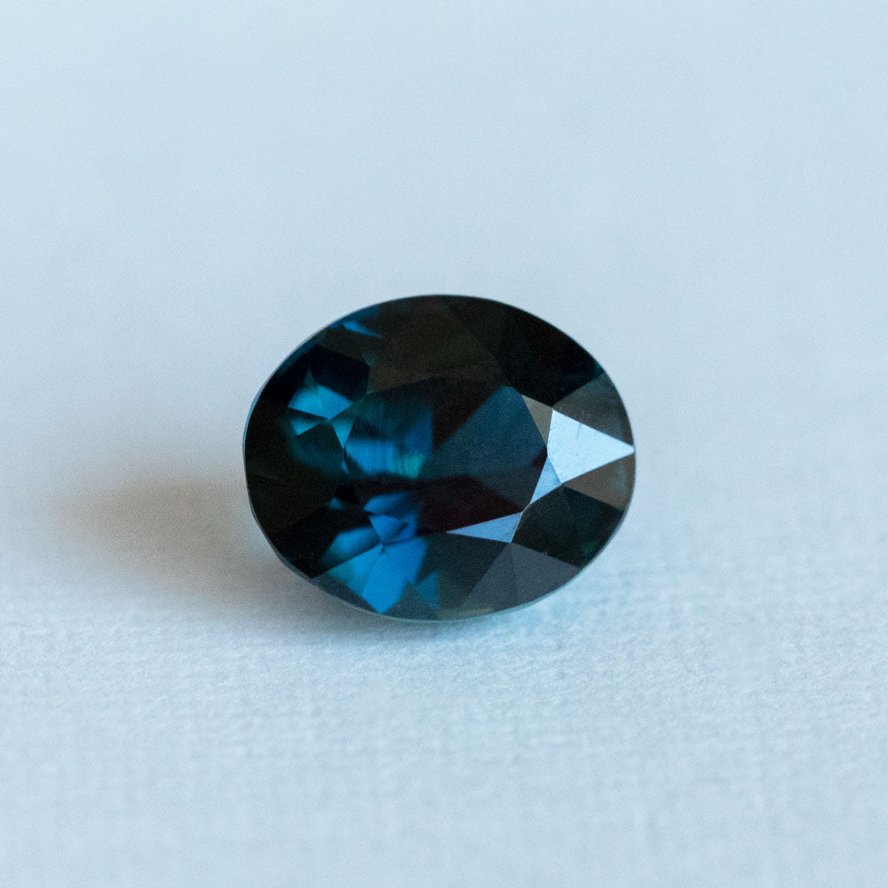 2.61CT OVAL MADAGASCAR SAPPHIRE, DEEP OCEAN BLUE, 8.24X697MM, UNHEATED