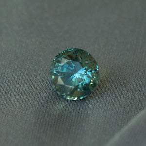 2.64CT ROUND MADAGASCAR SAPPHIRE, MULTICOLOR TEAL, 7.6X5.9MM