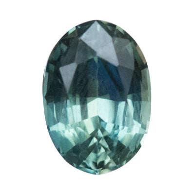 2.66CT OVAL NIGERIAN SAPPHIRE, LIGHT AQUA BLUE GREEN, UNHEATED, 9.63X6.74MM