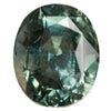 2.68CT OVAL MADAGASCAR SAPPHIRE, MEDIUM FOREST GREEN AND PARTI YELLOW BLUE, UNHEATED, 8.2X6.8MM