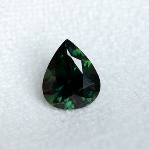 2.70CT PEAR MADAGASCAR SAPPHIRE, DEEP FOREST GREEN, 9.61X8.00X5.39MM