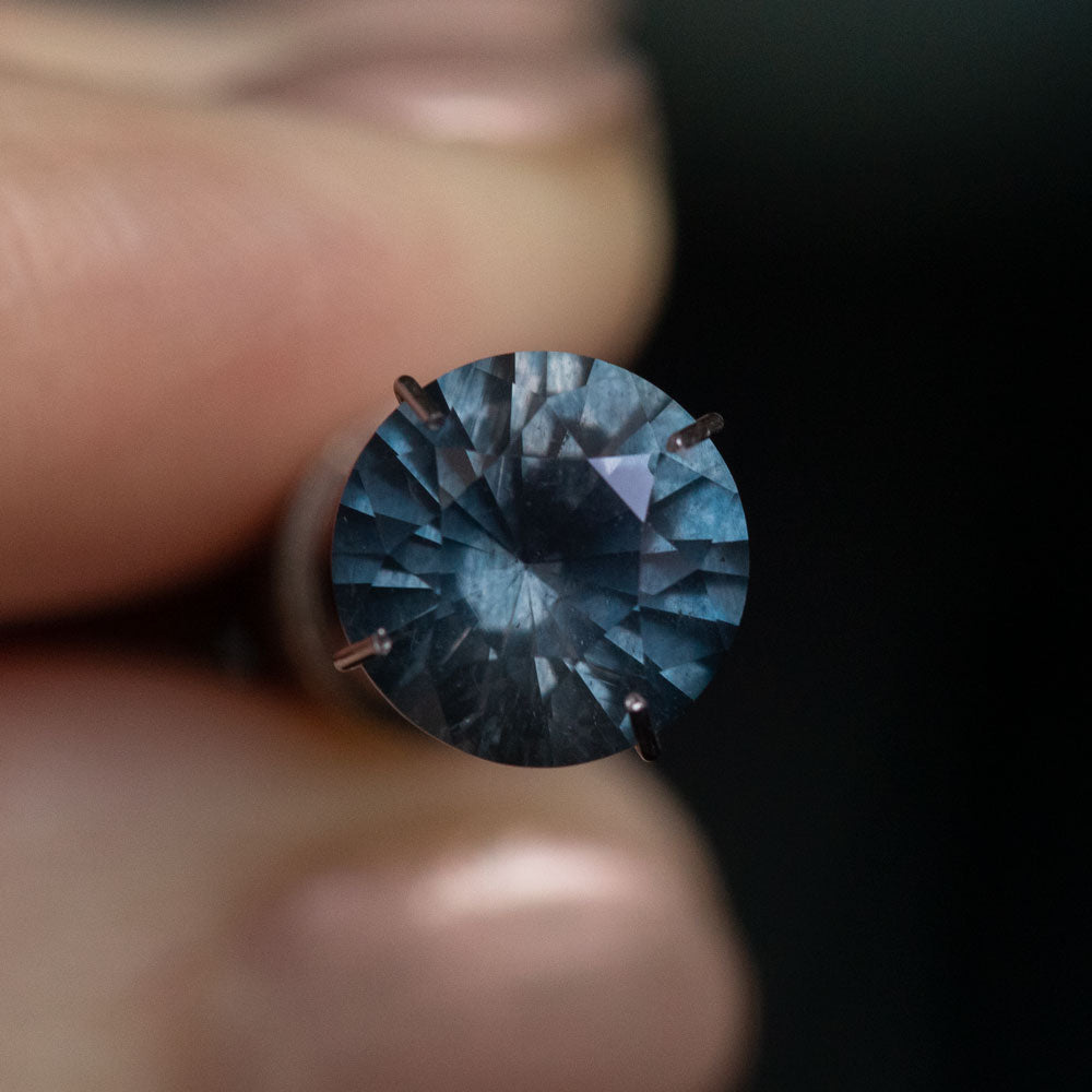 2.83CT ROUND MADAGASCAR SAPPHIRE, PURPLE BLUE GRAY, 8.79X5.38MM