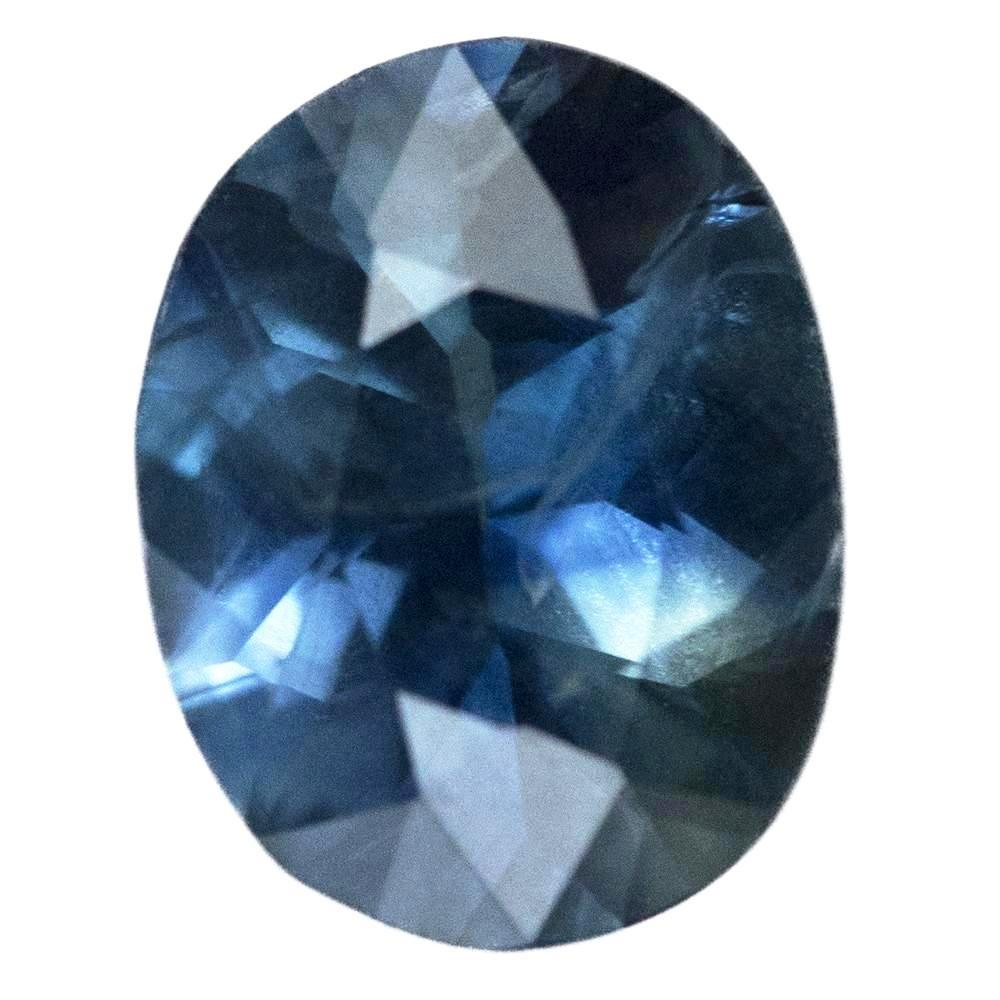 2.94CT MADAGASCAR OVAL SAPPHIRE, DEEP OCEAN BLUE, TEAL FLASHES, 10.3X8MM