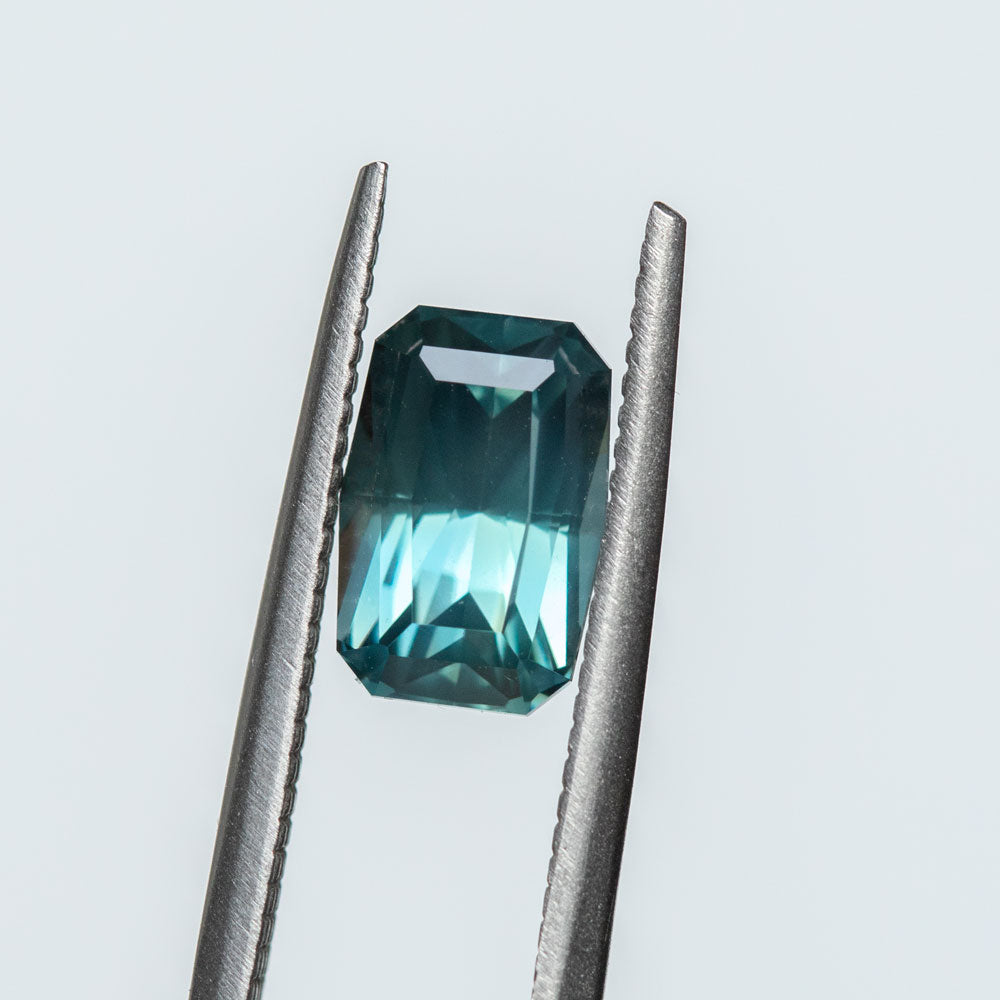 Hold for CR-2.94CT SCISSOR CUT MADAGASCAR SAPPHIRE, TEAL, 9.18X6.20MM