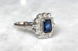 Custom Order-  Low Profile, Scalloped Diamond Halo Ring Setting - Reserved for L.T