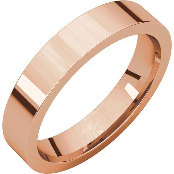 Flat Plain Men's Band 4mm - Wedding Band Recycled Gold - Gold Wedding band by Anueva Jewelry
