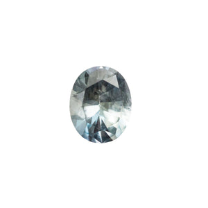 0.99CT OVAL MONTANA SAPPHIRE, BLUE PURPLE SILVER, 6.7X5.4MM