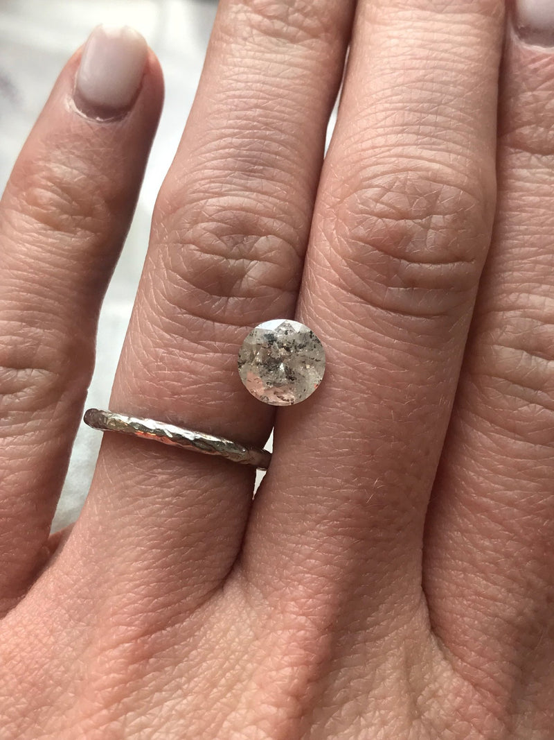 Custom Order- 2.05ct Canadian Salt and Pepper Diamond Ring in Six Prong Rose gold, reserved for G. Payment 2