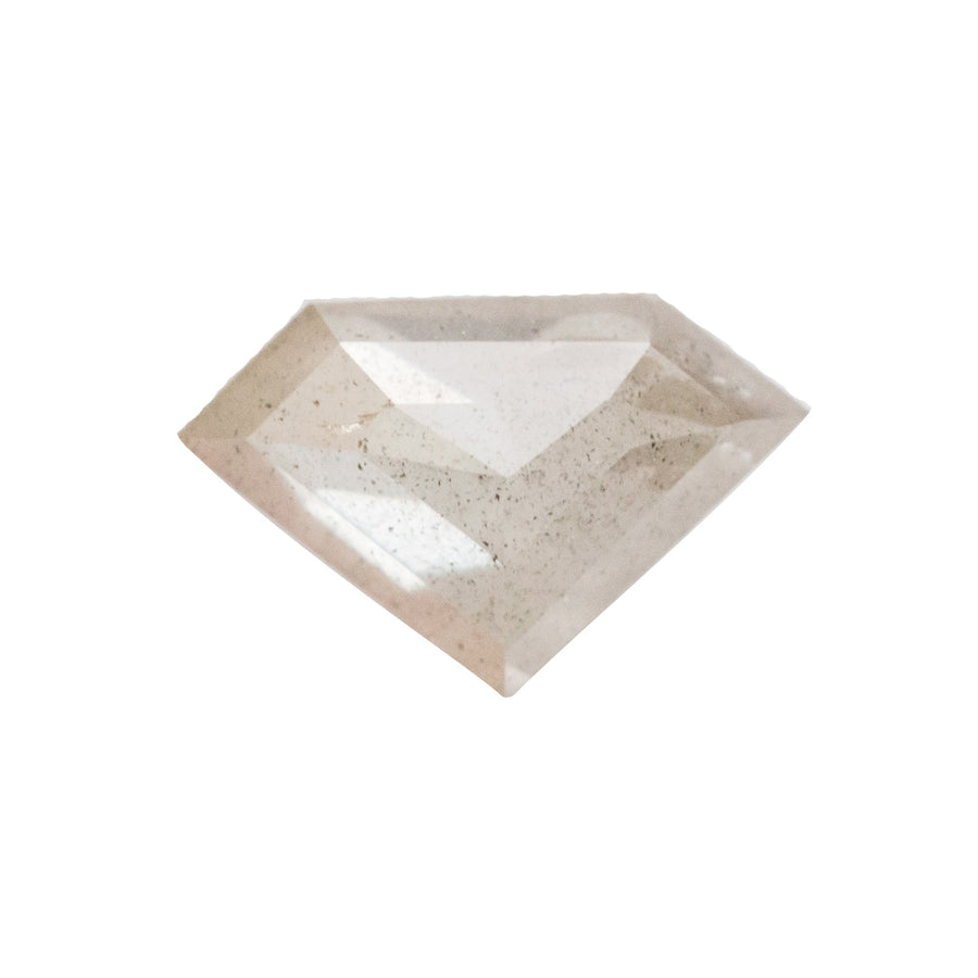 0.81CT ROSECUT SHIELD SHAPE, OPALESCENT PALE GREY TAUPE, 8.75MMX 5.62MM