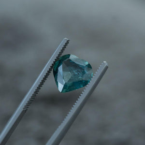 3.00CT HEART MONTANA SAPPHIRE, MEDIUM TEAL GREEN, 9.7X9.5MM