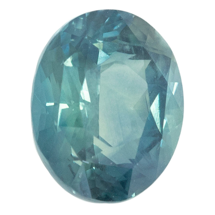 3.17CT OVAL MADAGASCAR SAPPHIRE, LIGHT TEAL BLUE GREEN, 9.45X7.60MM