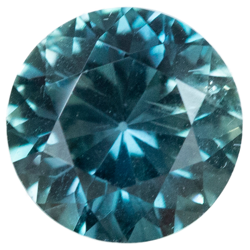 3.19CT GIA, ROUND MONTANA SAPPHIRE, TEAL BLUE, 8.72MM