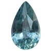 3.21CT PEAR MADAGASCAR SAPPHIRE, DENIM TEAL BLUE PURPLE, UNHEATED, 12.03X7.20MM
