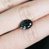 3.5CT NIGERIAN OVAL SAPPHIRE, DEEP TEAL BLUE GREEN, UNHEATED, 11X7.8MM