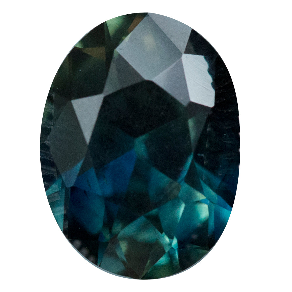 3.60ct Nigerian Oval Sapphire, Deep Parti Blue Green, unheated, 10.3x7.7mm