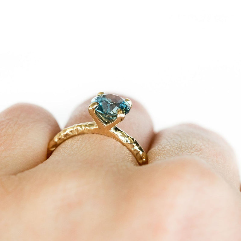 Custom Order-  1.94ct Montana Teal Oval Sapphire 4 Prong Solitaire Ring - Reserved for L.A.