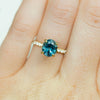 Custom Order- 1.91ct Round Montana Sapphire ring in 14k Yellow Gold French Diamond Setting. Reserved for S.