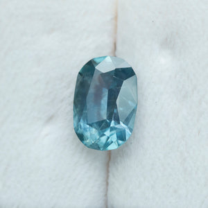 4.25CT ELONGATED CUSHION MONTANA SAPPHIRE, MEDIUM TEAL BLUE, 8.18x11.9MM