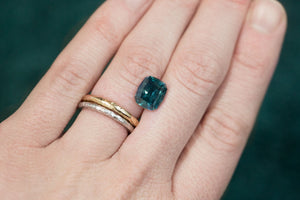 Custom Listing- 4.25ct Custom Cushion Montana Sapphire for a Custom Ring. Reserved for B.