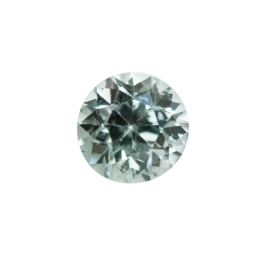 0.96CT ROUND MONTANA SAPPHIRE, CLEAR BLUE, UNHEATED, 5.6MM