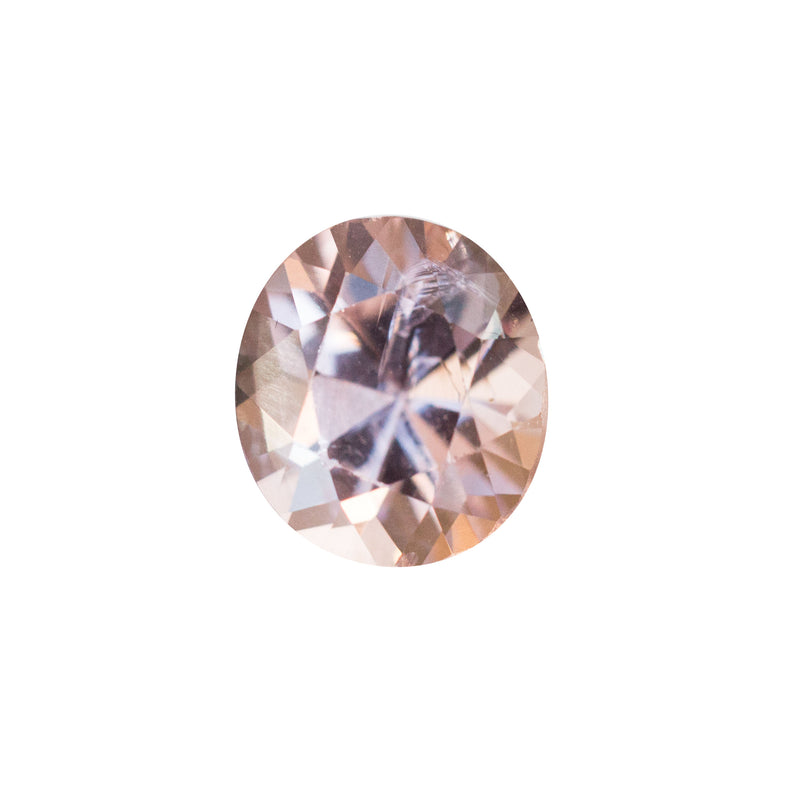 1.23CT ROUNDED OVAL BRILLIANT CUT SPINEL, EYE CLEAN WITH LIGHT INCLUSION,PLATINUM PINK AND PEACH, 6.93X6.19