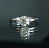 Custom Order-  2.58ct Old European Cut Salt and Pepper Diamond in a 4 Prong Solitaire Setting - Reserved for M.F