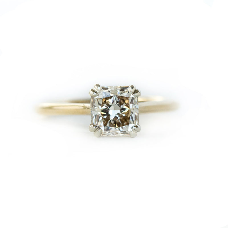 Deposit for Custom Order- 1.75ct Oval Light Grey Diamond in Cathedral Style Solitaire Ring. Reserved for P and B