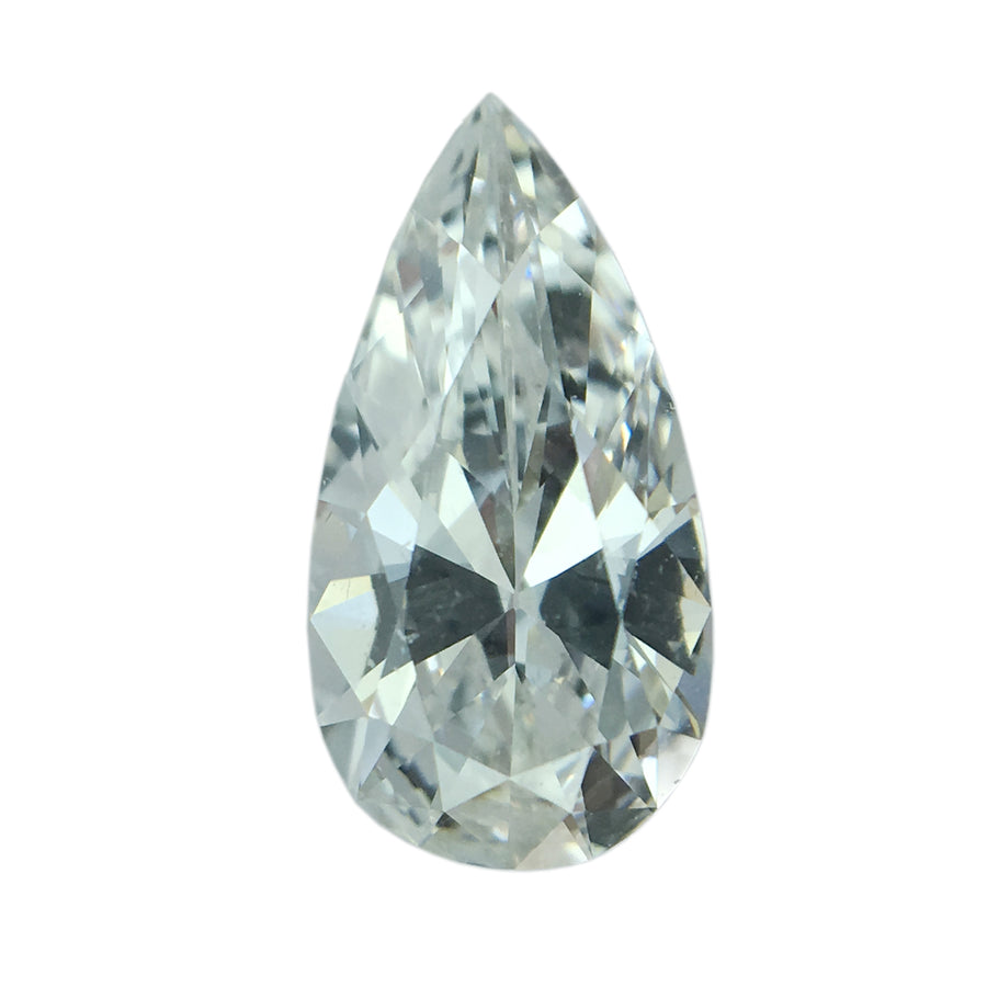 0.51CT PEAR DIAMOND, F COLOR, VS2 CLARITY, 8.37 X 4.28 X 2.40MM, GIA